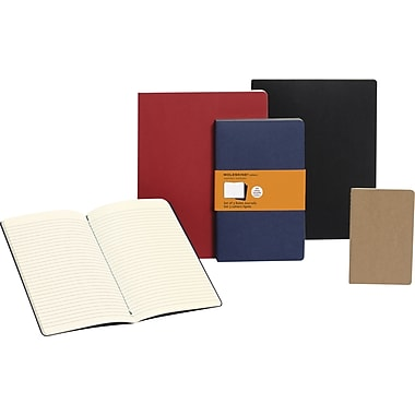 Moleskine Cahier Extra Large Journals, 3/Pack, 7-1/2