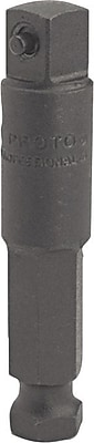 Proto® Plain Pin Locking Hex Shank Extension Bit, 7/16 in Male Hex x 1/2 in Male Square Shank Drive