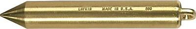 Cooper Hand Tools Lufkin® Cylindrical Plumb Bob, 1-inch Diameter, Solid Brass, 20 oz.