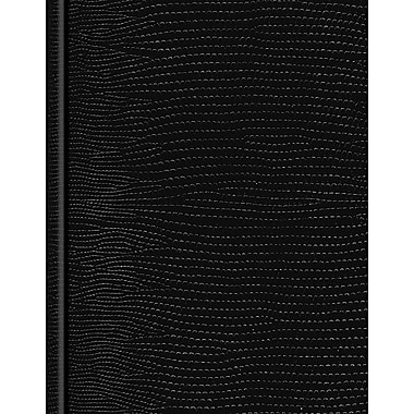 Blueline Executive Business Journal, Black Lizard Look Hardbound Cover, 150 Pages / 75 Sheets, 9-1/4