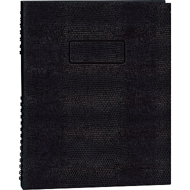 Blueline NotePro Business Notebook, Black Hard Lizard Look Cover, Twin-Wire Binding, 200 Pages / 100 Sheets, 11