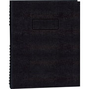 "Blueline NotePro Business Notebook, Black Hard Lizard Look Cover, Twin-Wire Binding, 200 Pages / 100 Sheets, 11"" x 8-1/2"""