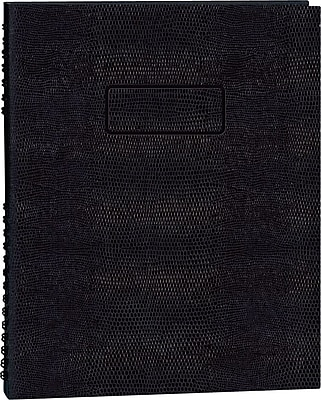Blueline® NotePro®Undated Daily Planner, Black Hard Cover, 9-1/4