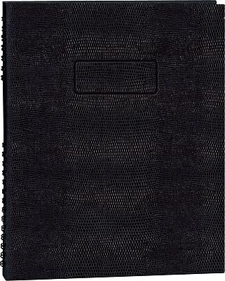 Blueline® NotePro®Undated Daily Planner, Black Hard Cover, 8-1/2