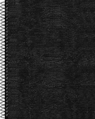 Blueline® Business Notebook, Flexible Soft Lizard Look Cover, Twin Wire, 160 Pages / 80 Sheets, 8