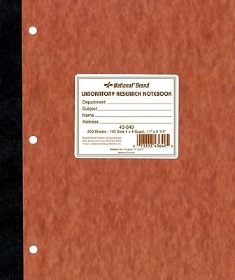 National® Quad Ruled Computation & Lab Notebook, 9-1/4