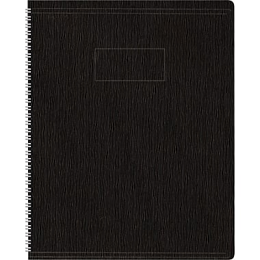 Blueline Ecologix Recycled Business Notebook, Flexible Black Soft Cover, Twin Wire, 160 Pages / 80 Sheets, 11
