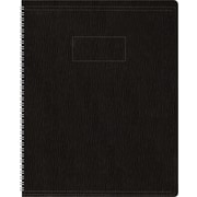 "Blueline Ecologix Business Notebook, Flexible Black Soft Cover, Recycled, Twin Wire, 160 Pages / 80 Sheets, 8-7/8"" x 7-1/8"