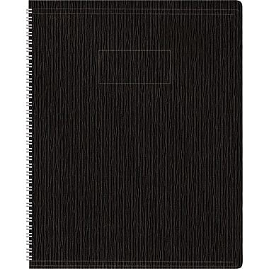 Blueline Ecologix Business Notebook, Flexible Black Soft Cover, Recycled, Twin Wire, 160 Pages / 80 Sheets, 8-7/8