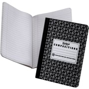 "EarthWise® Recycled Composition Notebook, Black, 9-3/4"" x 7-1/2"""