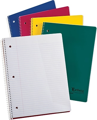 Ampad Evidence® Recycled 1-Subject Notebook, White, College Ruled, 11
