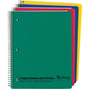 "Ampad® Envirotec™ Recycled Wirebound 3 Subject Notebook, 8-1/2"" x 11"""