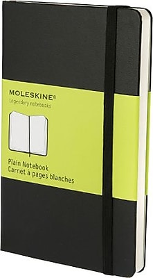 Moleskine Classic Notebook, Pocket, Plain, Black, Hard Cover, 3-1/2