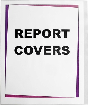 C-Line® Clear Poly Report Covers for Use with Slide-'n-Grip Binding Bars