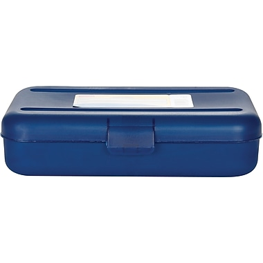 Staples® Pencil Box, Translucent Blue