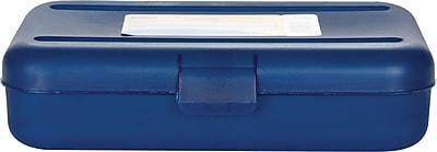 Staples® Pencil Box, Translucent Blue