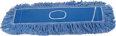 Rubbermaid Twisted Loop Dust Mop Heads, Blue, 24