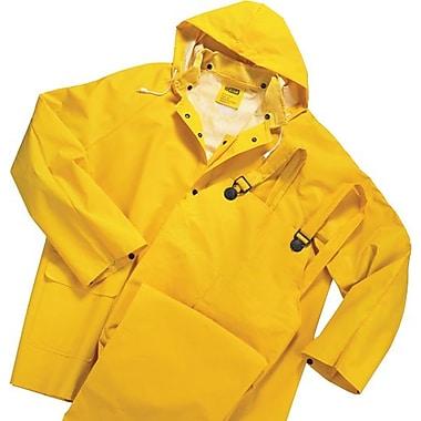 Anchor Brand® 3 Piece Rainsuit, Yellow, PVC/Polyester, 0.3500 mm (T), Detachable Hood, 6X-Large