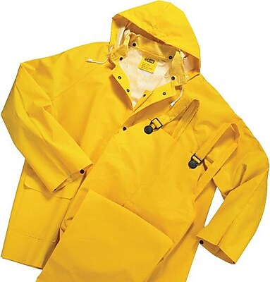 Anchor Brand Rainsuit; PVC/Polyester, Yellow, 6X-Large