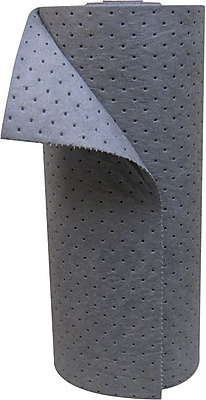 Anchor Brand® 120 in (L) x 30 in (W) x 1 in (H) Dimpled and Perfed Universal Sorbent, Heavy-Weight