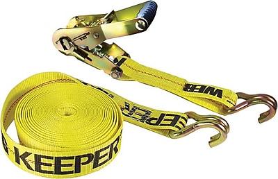 Keeper® Ratchet Tie-Down Strap, Double-J Hook Style, 27 Feet (L) x 2 in (W)