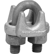 Campbell® Series 1000-G Wire Rope Clip, Drop-Forged Carbon Steel, Galvanized, 1/4 in