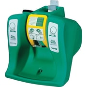 AquaGuard® Green Heavy Duty Polyethylene Portable Gravity Flow Eye Wash Station, 16 Gallon, 0.5 GPM