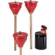 "Justrite® Safety Drum Funnels, 10.75""(Dia.) x 10""(H)"