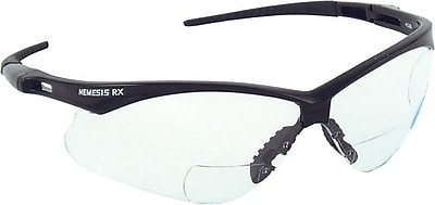 Jackson® ANSI Z87 Nemesis™ RX Safety Glasses, Smoke, 2.0 Diopter