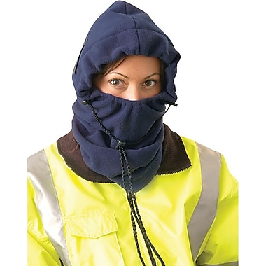 OccuNomix Plush 3-In-1 Balaclava Winter Liner, One Size, 100% Flame Resistant Polyester Fleece