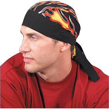 OccuNomix Tuff Nougies Regular Tie Hat, Cotton Wavy Flag Pattern