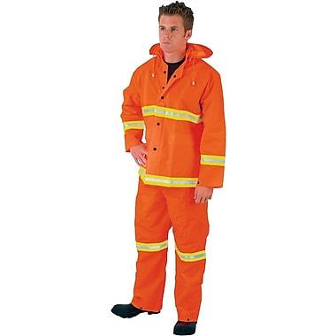 Luminator™ 3 Piece Rainwear, Fluorescent Orange, PVC/Polyester, 0.3500 mm (T), X-Large