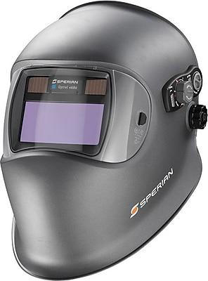 Optrel® Series E680 Welding Helmet, 2 in (W) x 4 in (L) Window, #5 - 9, 9 - 13 Shade, Dark Blue