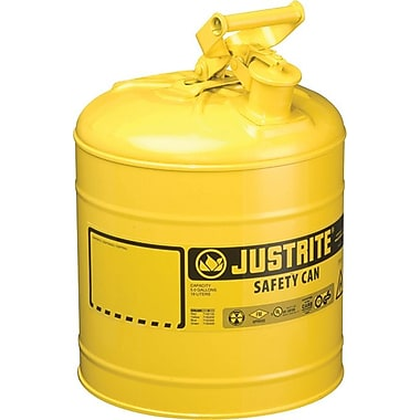 JUSTRITE® Type I Galvanized Steel Yellow Safety Can, 11.75 in (OD) X 16.875 in (H)
