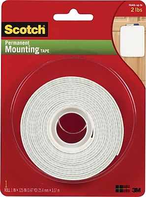 Scotch® Permanent Mounting Tape, 1