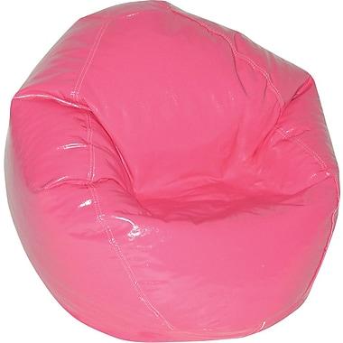 Elite Wetlook Junior Vinyl Bean Bag Chair, Magenta