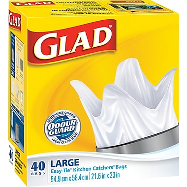 Glad Kitchen Catchers Garbage Bags With Febreze Large 40 Pack