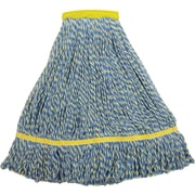 "O'Dell® Microfiber String Mop Head, 1 1/2"" Headband, 14 oz., Blue/Yellow"