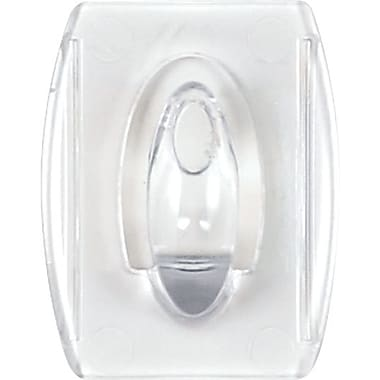 Command™ Adhesive Clear Plastic Wall Hooks