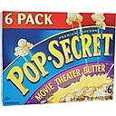 Pop Secret Movie Theater Popcorn, Butter, 3.5 oz., 6 Bags/Box