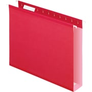 "Pendaflex® Box-Bottom Colored Hanging Folders, Letter, Red, 2"" Expansion, 25/Box"