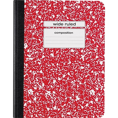 Staples® Composition Notebook, Wide Ruled, 9-3/4