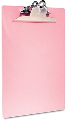 Recycled Plastic Pink, Letter/A4 size; High Capacity Clip, Inch/Metric Ruler Edges