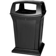 "Rubbermaid® Ranger® Fire-Safe Container, Square, Structural Foam, 45 Gallon, Black, 41 1/2""H x 24 1/2""W x 28 3/8""D"
