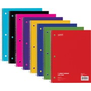 "Staples® 1 Subject Notebook, Wide Ruled, 8"" x 10-1/2"", Blue"