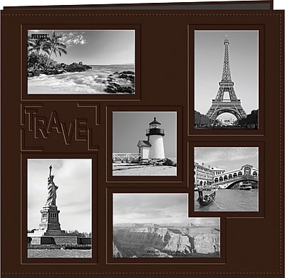 Poineer Collage Frame Sewn Embossed Cover Postbound Album, 12
