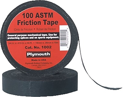 Polyken® Black Rubber Base Friction Tape, .75