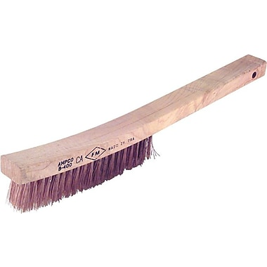 Ampco® Curved Handle Scratch Brush, 1 1/8 in (L) Trim