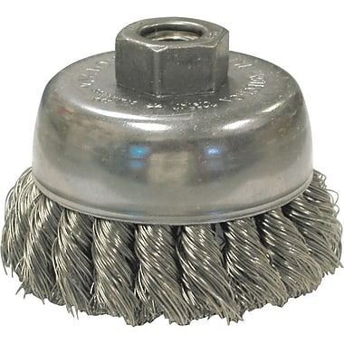 Hurricane® Twist 0.014 in (Dia) x 7/8 in (L) CS Wire US80 20 Knot Cup Brush, 5/8-11, 2 3/4 in (Dia)