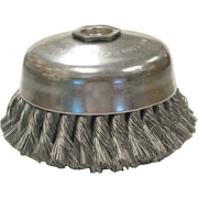 ANDERSON® 0.014 in (Dia) x 1 1/4 in (L) CS Wire US4 24 Knot Cup Brush, 5/8-11, 4 in (Dia)